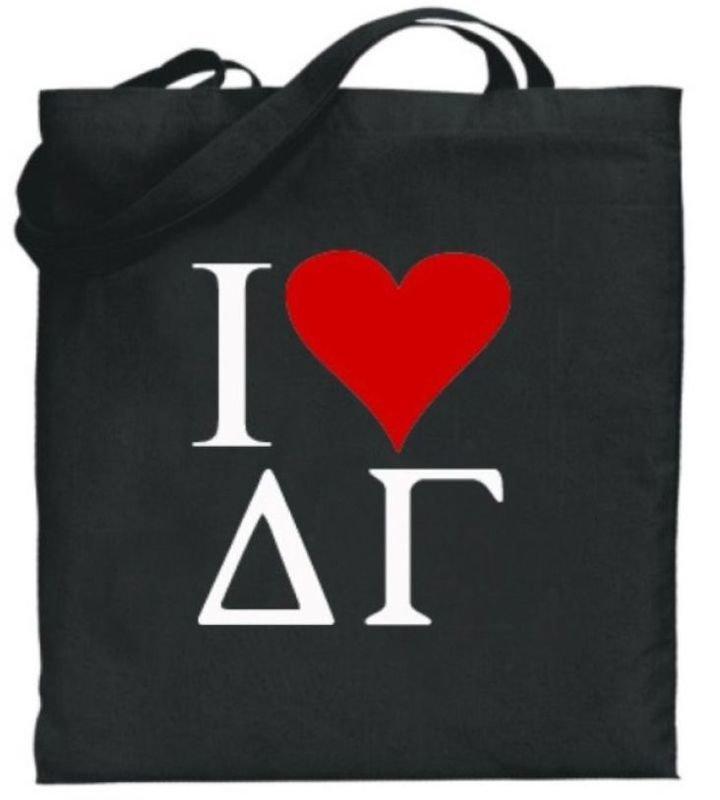Delta Gamma I Love Tote Bags