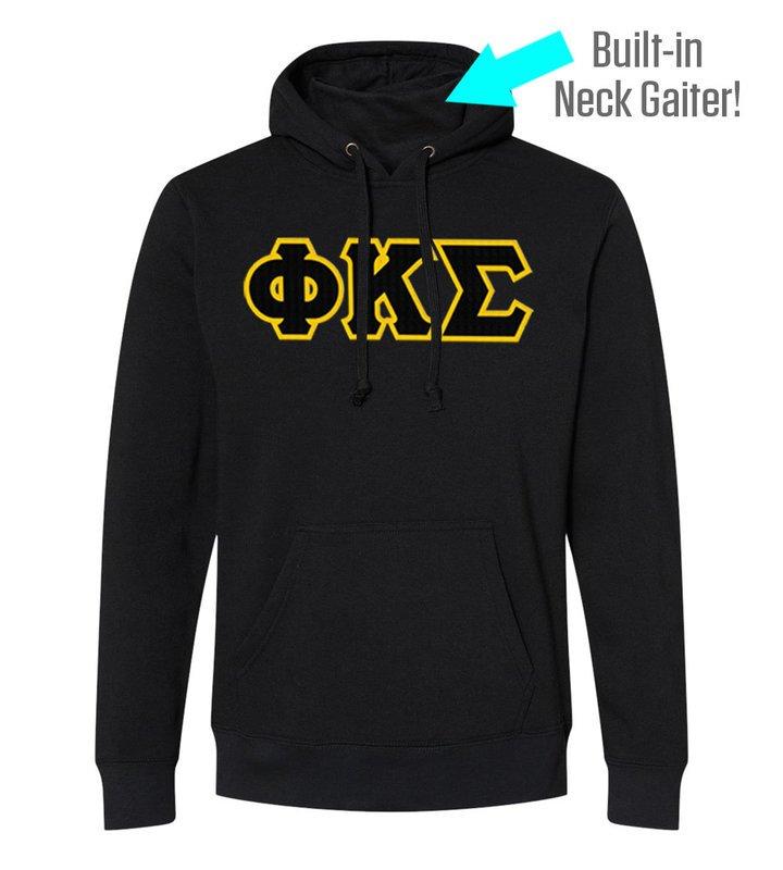 Phi Kappa Sigma Lettered Gaiter Fleece Hooded Sweatshirt