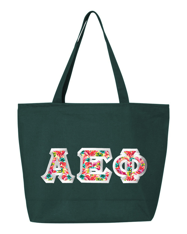 $19.99 Alpha Epsilon Phi Custom Satin Stitch Tote Bag