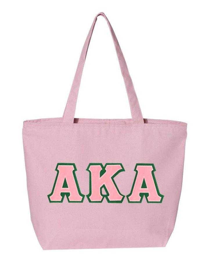 DISCOUNT- Alpha Kappa Alpha Lettered Tote Bag
