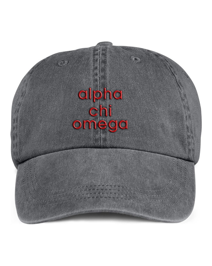 Alpha Chi Omega Stonewashed Cotton Hats