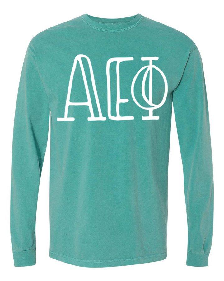 Alpha Epsilon Phi Comfort Colors Greek Long Sleeve T-Shirt