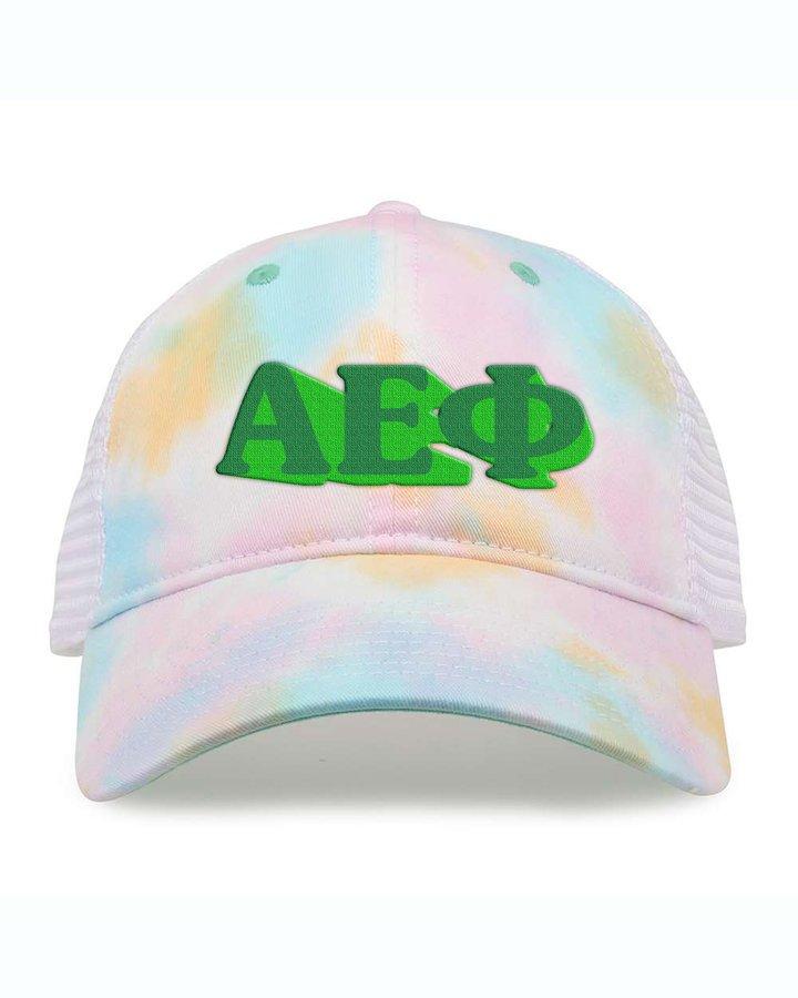 Alpha Epsilon Phi Sorority Sorbet Tie Dyed Twill Hat