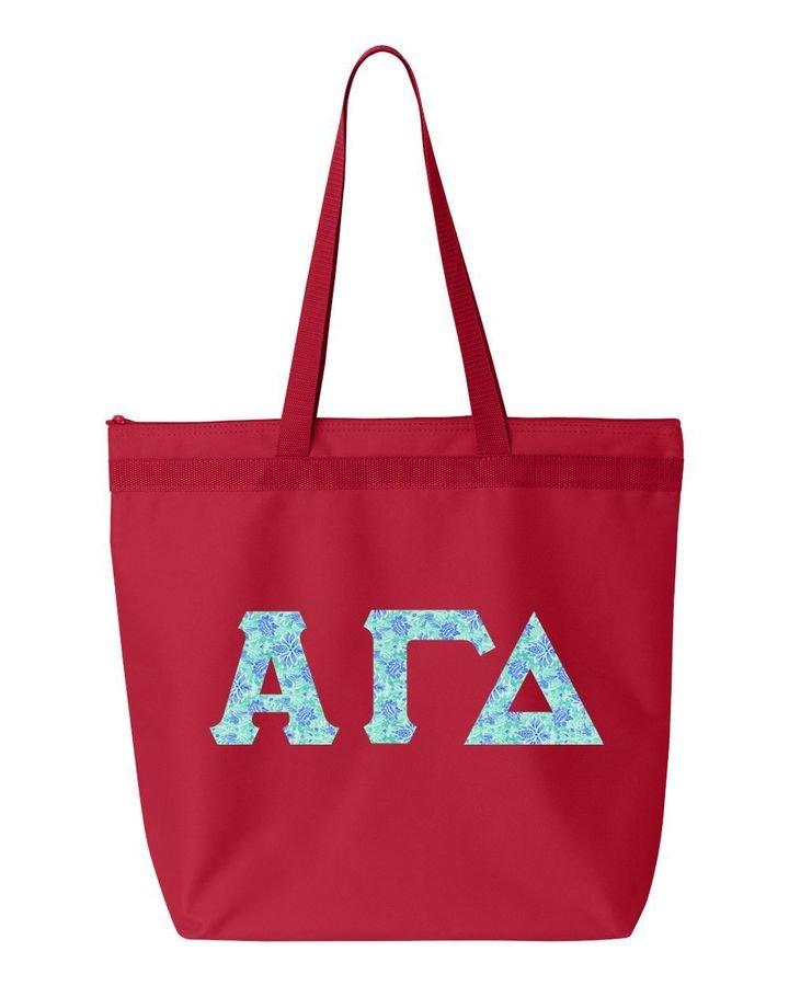 Alpha Gamma Delta Greek Letter Liberty Bag