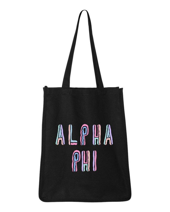 Alpha Phi Jumbo All In Tote Bag