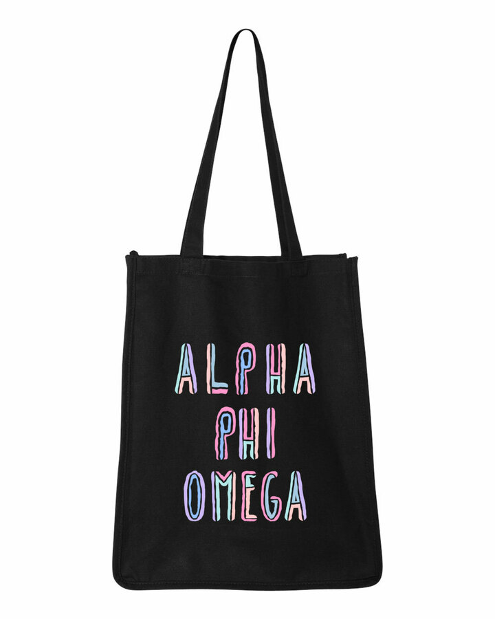 Alpha Phi Omega Jumbo All In Tote Bag