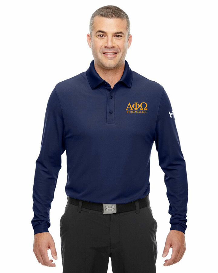 Alpha Phi Omega Under Armour®  Men's Performance Long Sleeve Fraternity Polo