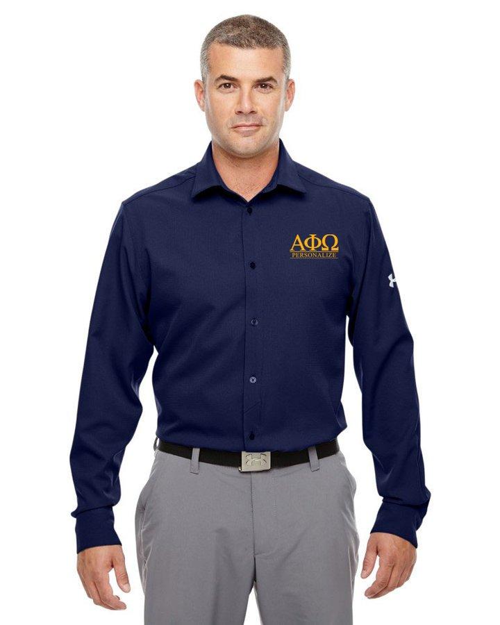 Alpha Phi Omega Under Armour®  Men's Ultimate Fraternity Long Sleeve Buttondown