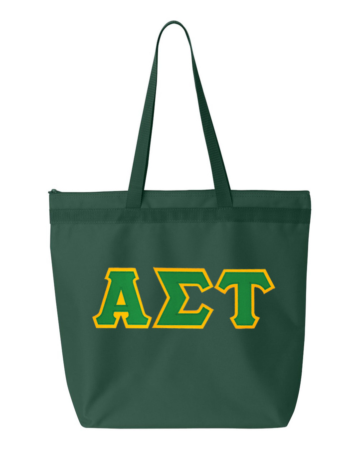 DISCOUNT-Alpha Sigma Tau Lettered Game Day Tote
