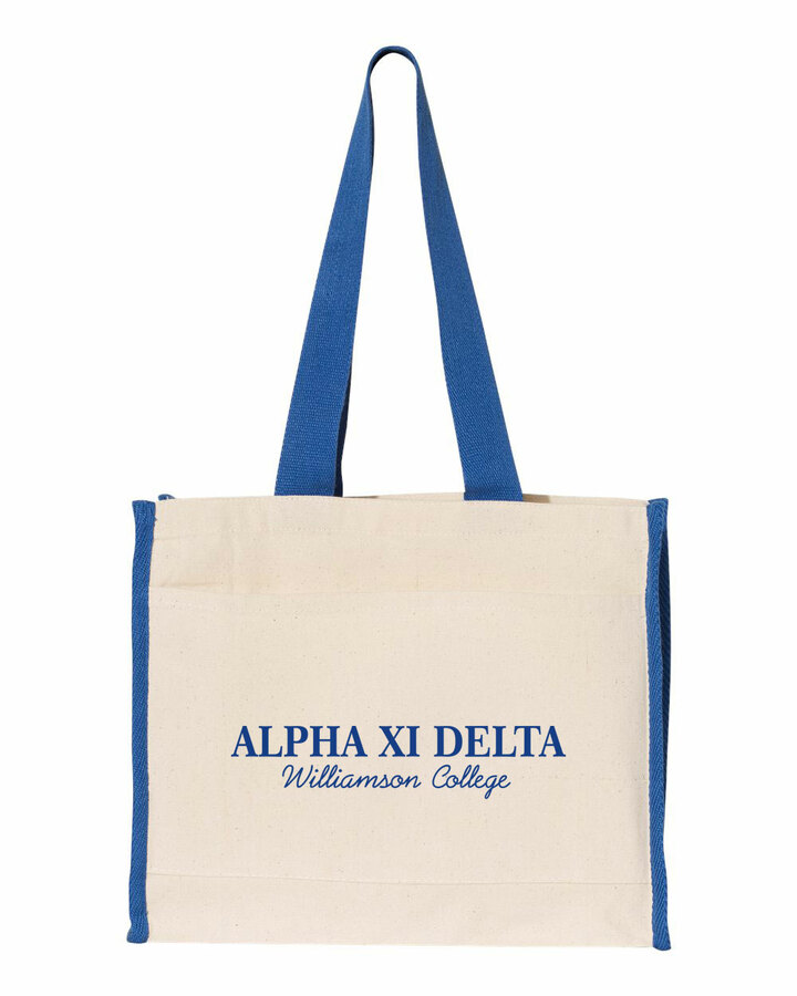 Alpha Xi Delta Tote with Contrast-Color Handles