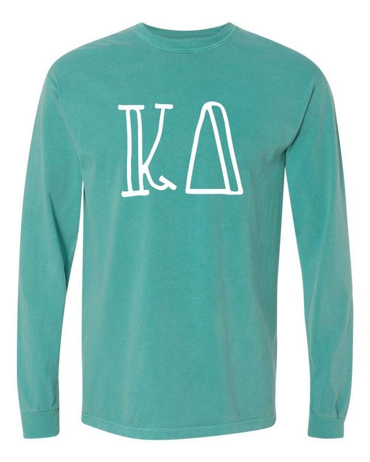 Comfort Colors Greek Letters Long Sleeve Shirt