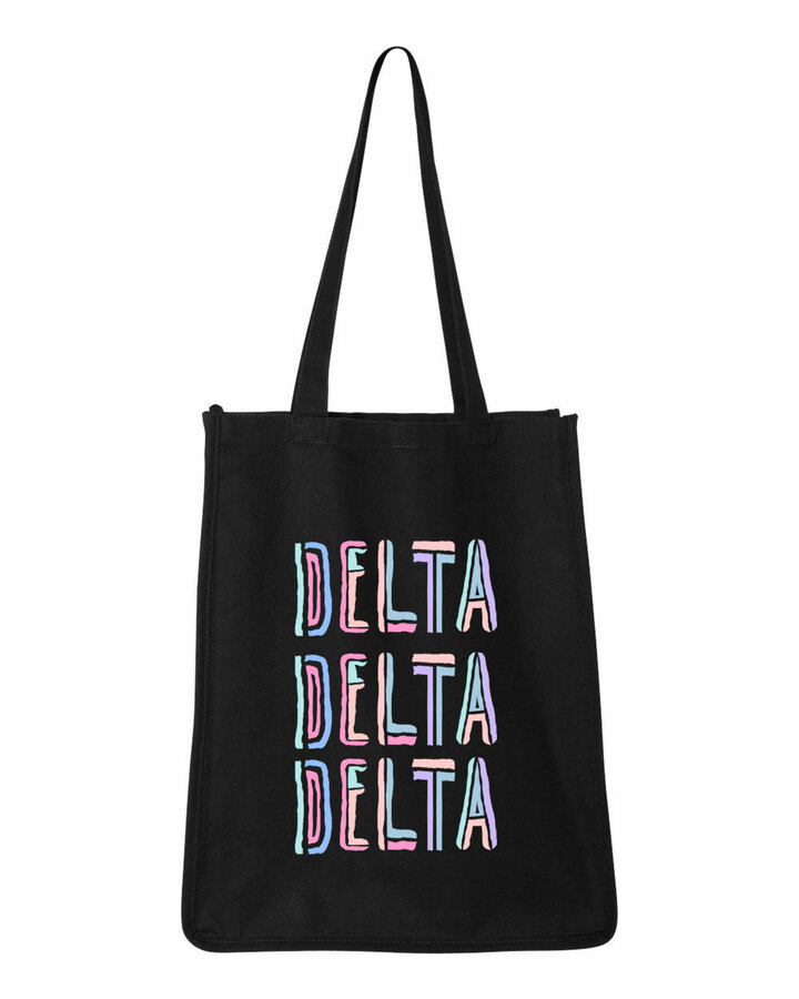 Delta Delta Delta Jumbo All In Tote Bag