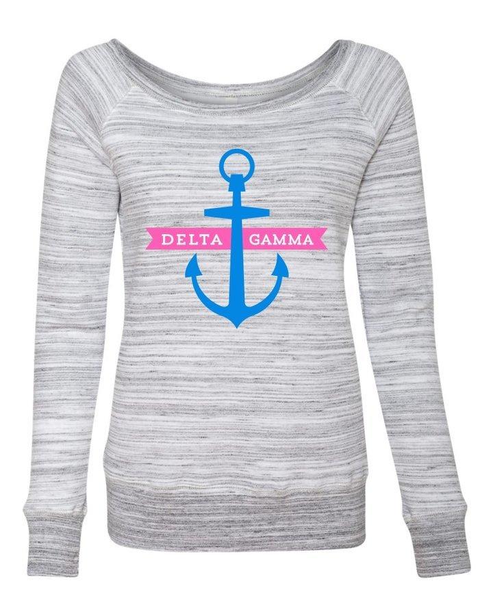 Delta Gamma Anchor Fleece Wideneck Sweatshirt