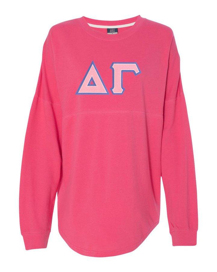 DISCOUNT-Delta Gamma Athena French Terry Dolman Sleeve Sweatshirt