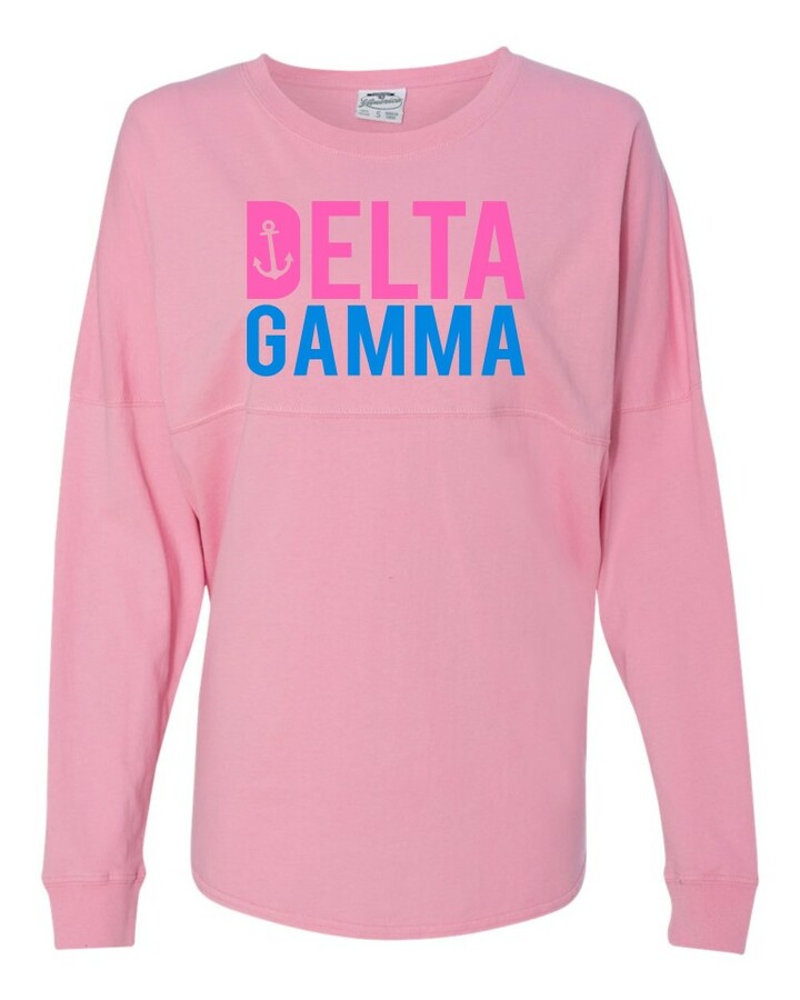 Delta Gamma Pink & Blue J. America - Game Day Jersey T-Shirt