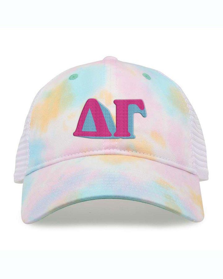 Delta Gamma Sorority Sorbet Tie Dyed Twill Hat