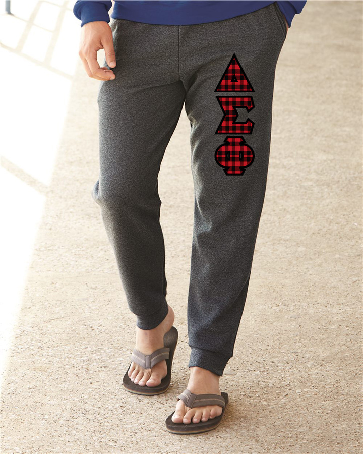 """Delta Sigma Phi Lettered Joggers(3"""" Letters)"""