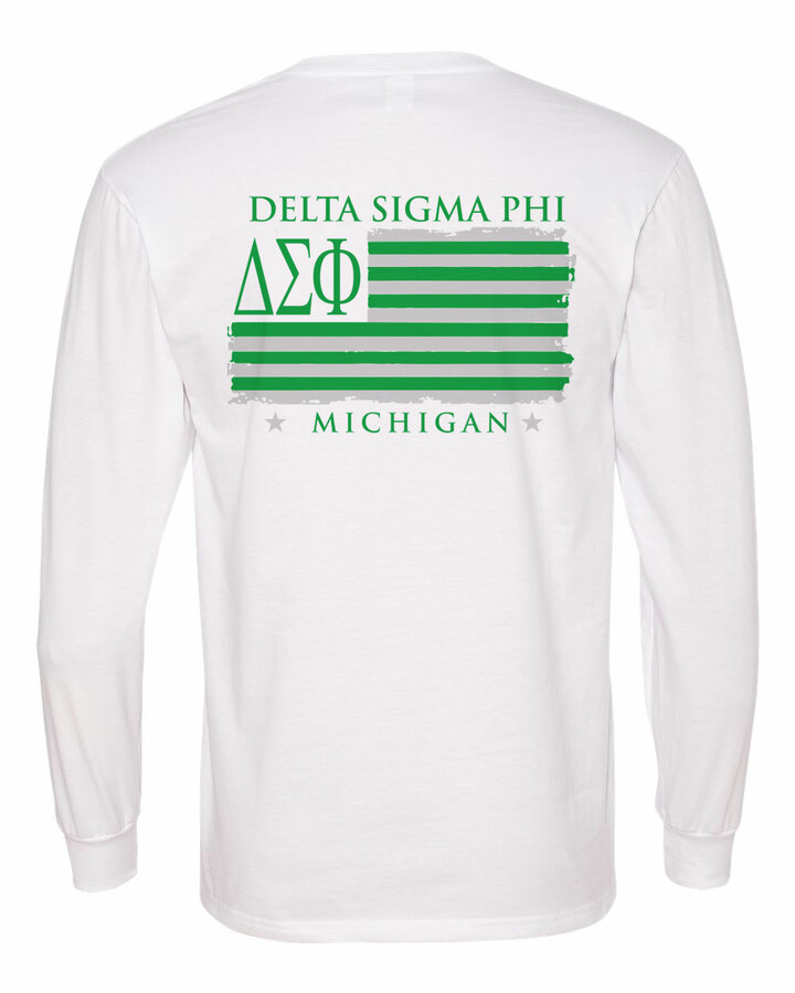 Delta Sigma Phi Stripes Long Sleeve T-shirt