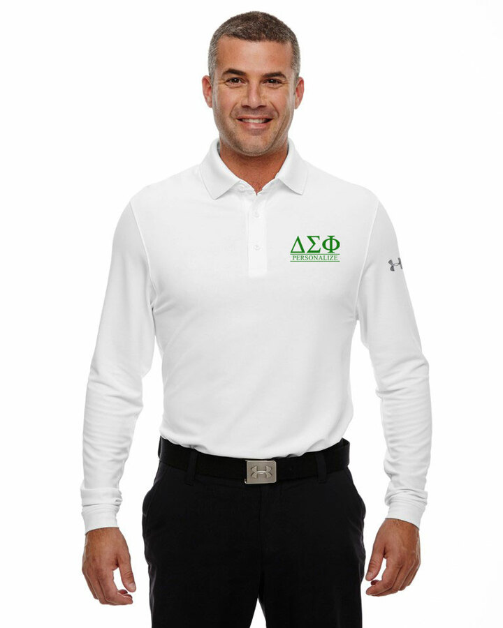 Delta Sigma Phi Under Armour®  Men's Performance Long Sleeve Fraternity Polo