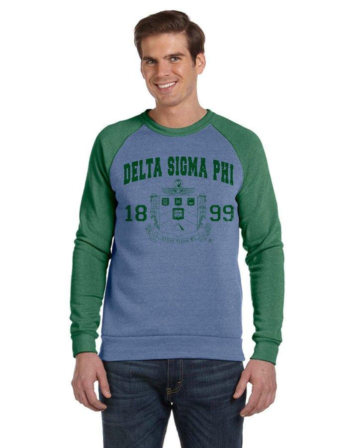 Fraternity Triblend Colorblocked Champ Fashion Crew Sweatshirt