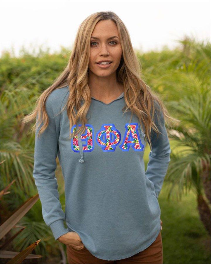 Sorority Lightweight California Wavewash Hooded Pullover Sweatshirt