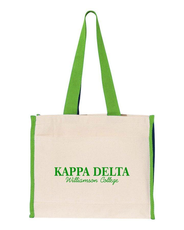 Kappa Delta Tote with Contrast-Color Handles