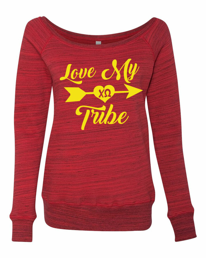 My Tribe Sorority Wideneck Crew Sweatshirt