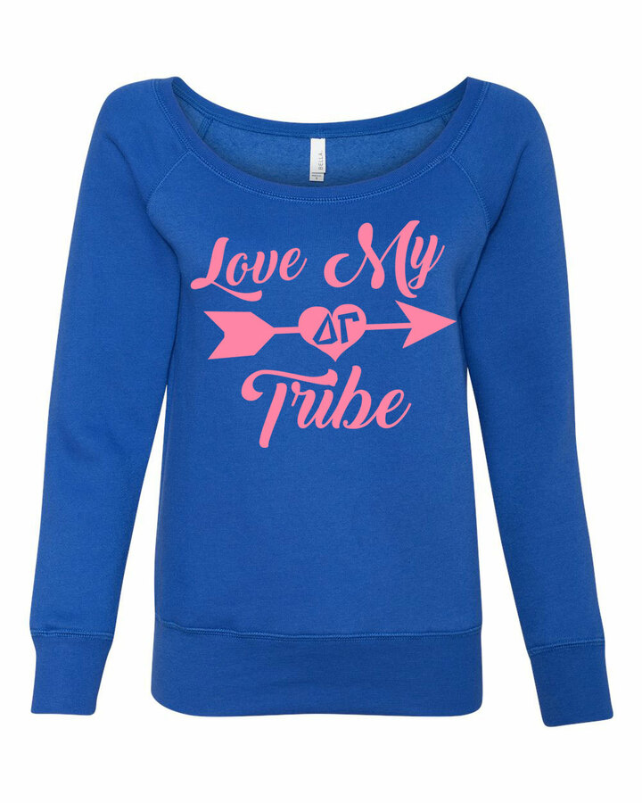 My Tribe Sorority Wideneck Crew Sweatshirt