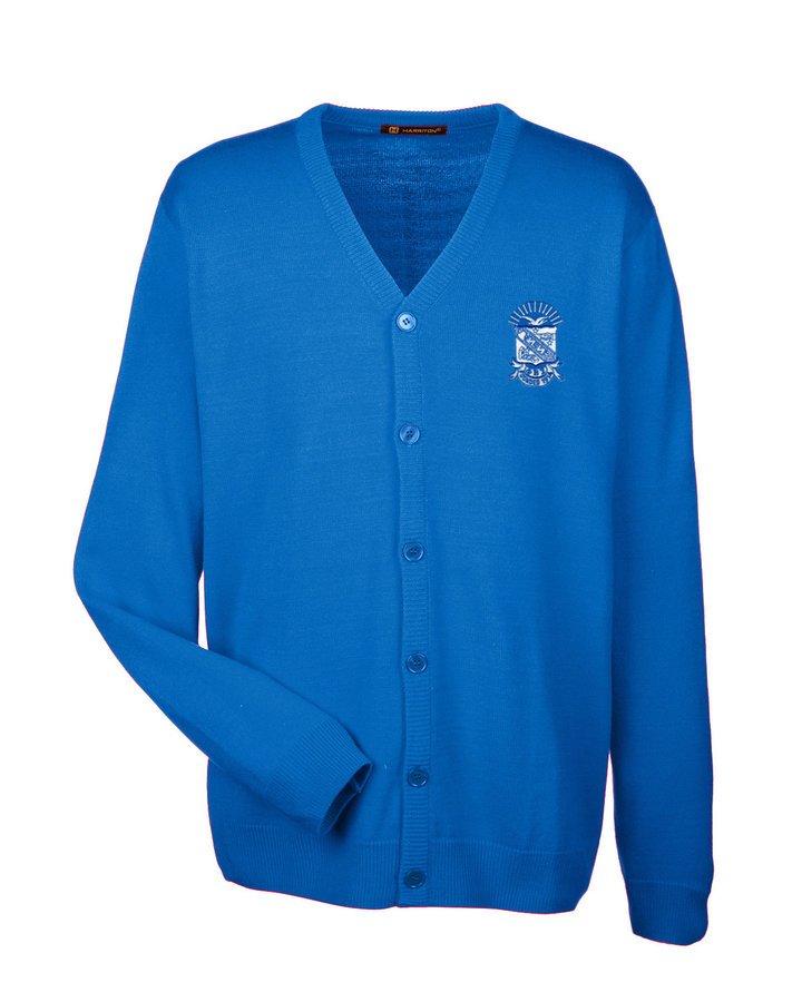 Phi Beta Sigma Greek Letterman Cardigan Sweater