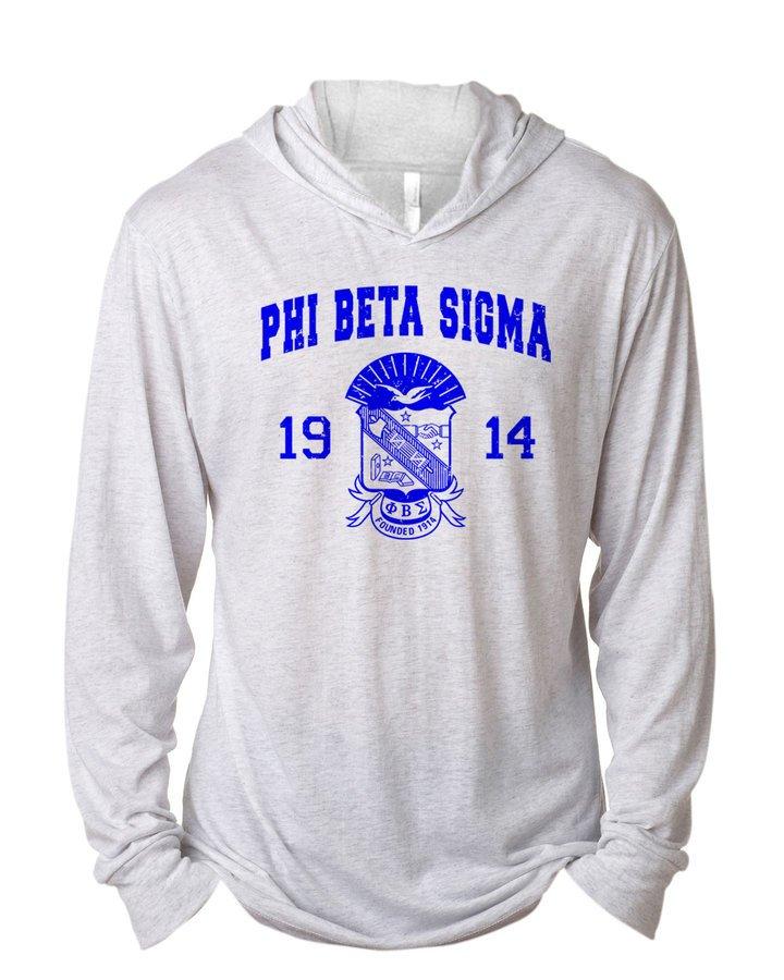 Phi Beta Sigma Unisex Triblend Long-Sleeve Hoodie