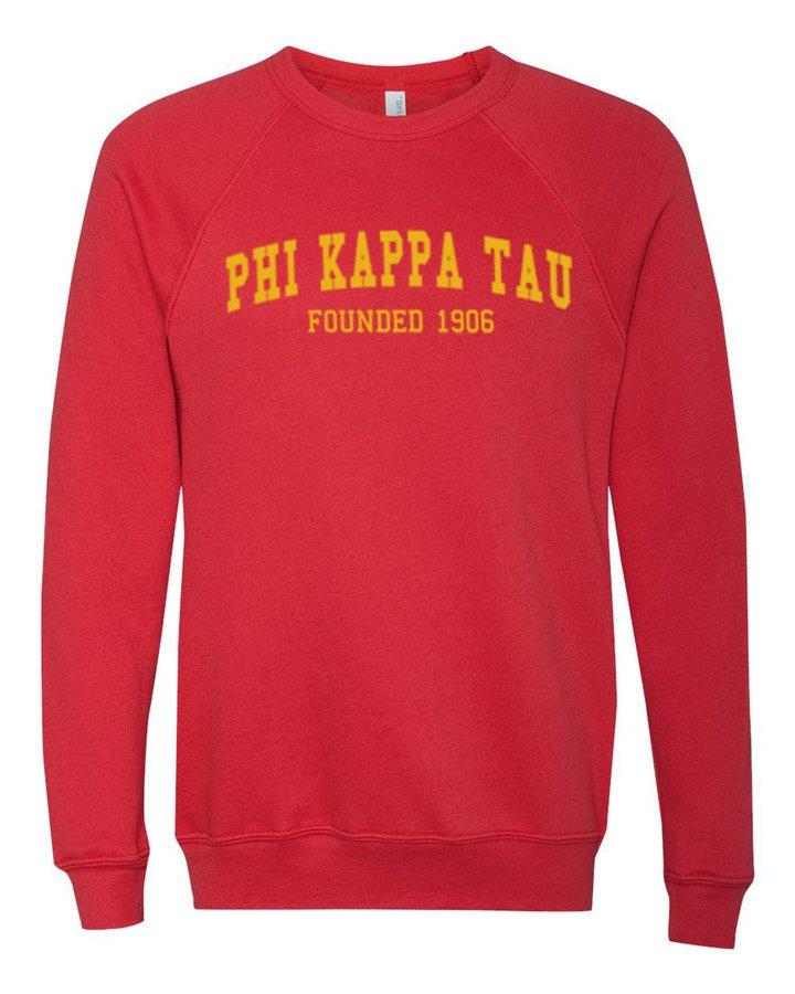 Phi Kappa Tau Fraternity Founders Crew Sweatshirt
