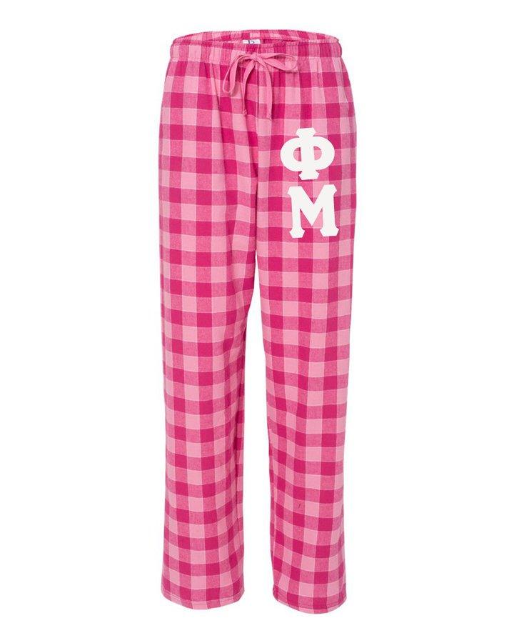 Phi Mu Pajamas -  Flannel Plaid Pant