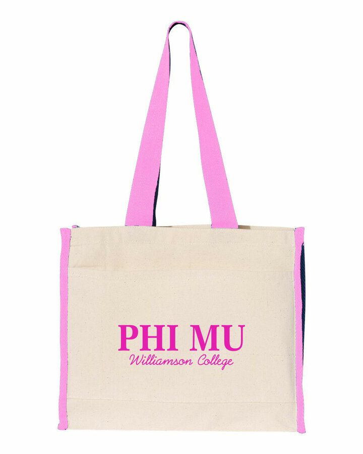 Phi Mu Tote with Contrast-Color Handles