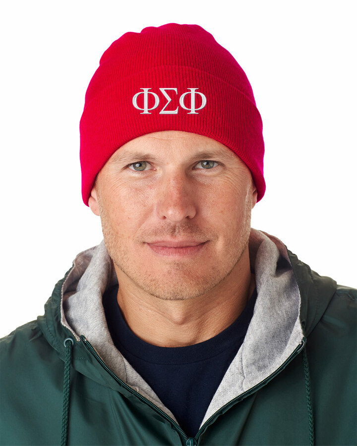 Phi Sigma Phi Greek Letter Knit Cap