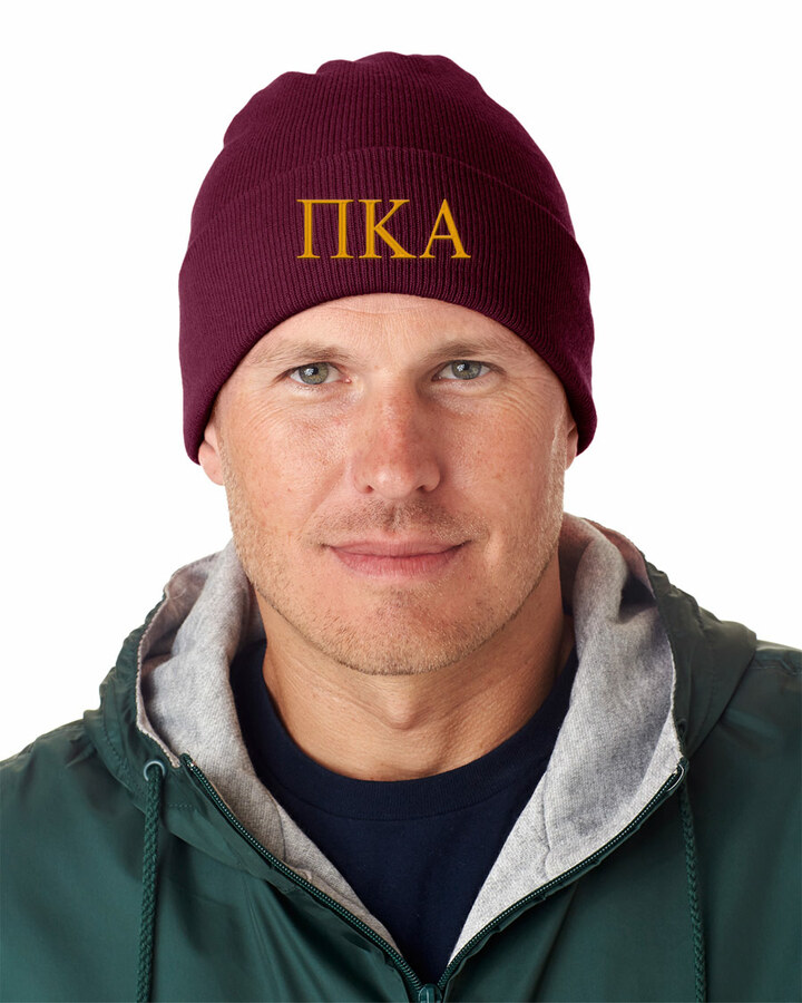 Pi Kappa Alpha Greek Letter Knit Cap