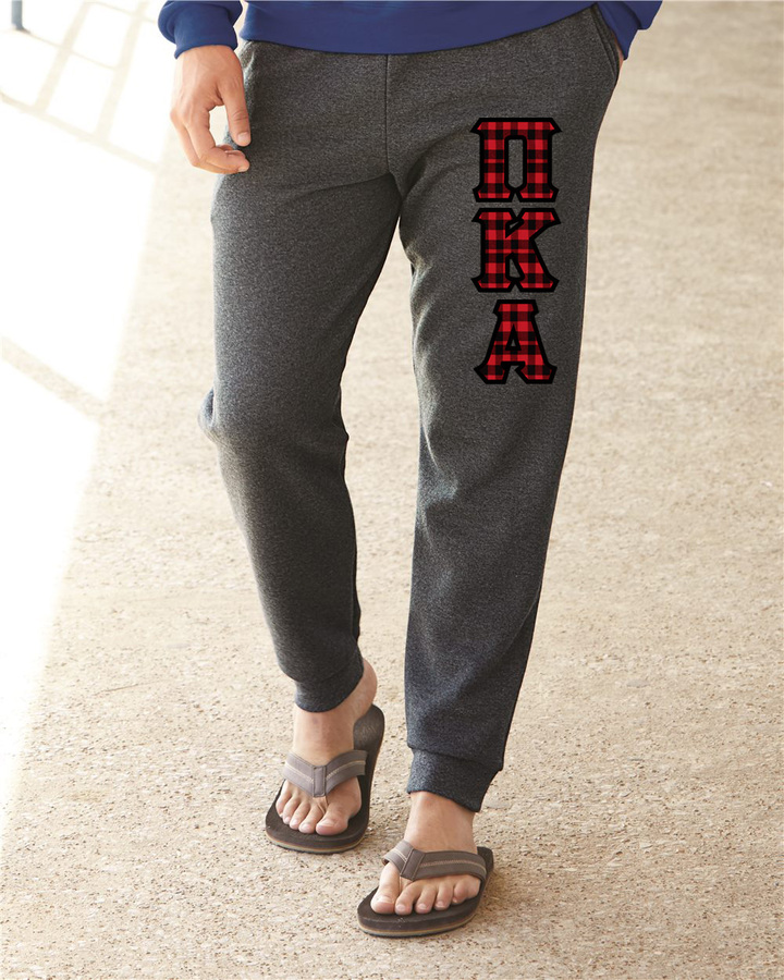 "Pi Kappa Alpha Lettered Joggers(3"" Letters)"