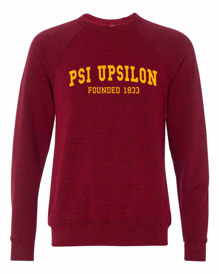 Psi Upsilon Fraternity Founders Crew Sweatshirt