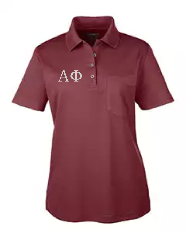 Sorority Origin Performance Piqué Polo with Pocket