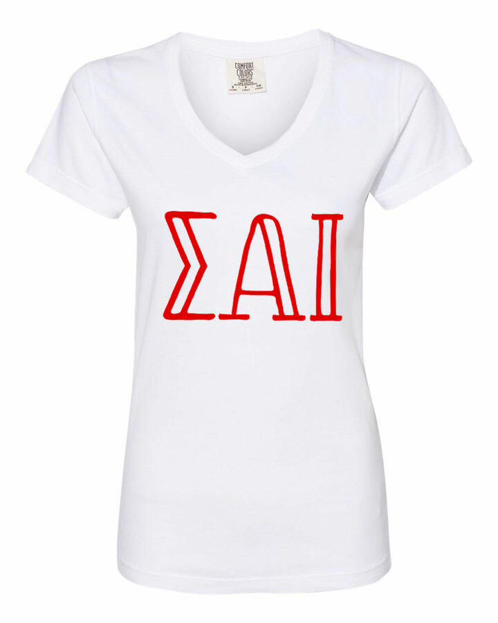 Sigma Alpha Iota Comfort Colors V-Neck T-Shirt
