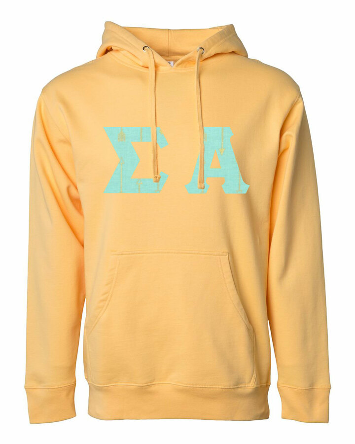 Sigma Alpha Lettered Independent Trading Co. Hooded Pullover Sweatshirt