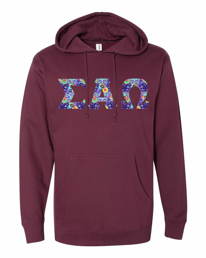 Sigma Alpha Omega Lettered Independent Trading Co. Hooded Pullover Sweatshirt