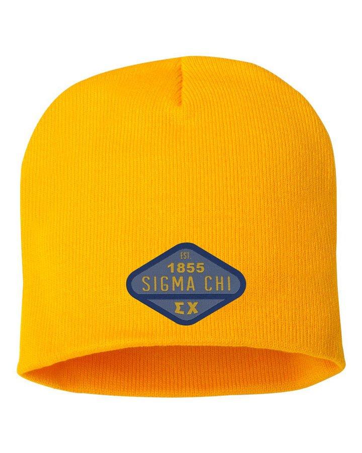 DISCOUNT-Sigma Chi Woven Emblem Beanie