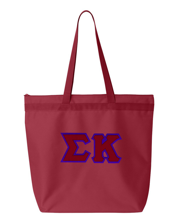 DISCOUNT-Sigma Kappa Lettered Game Day Tote