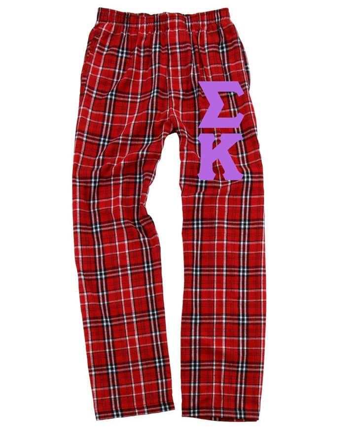 Sigma Kappa Pajamas -  Flannel Plaid Pant