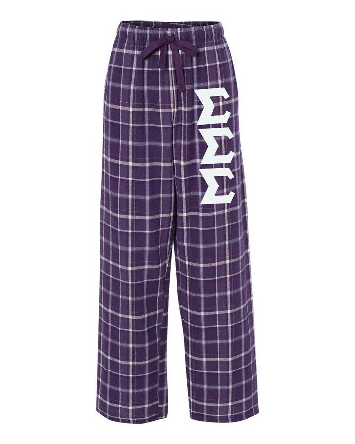 Sigma Sigma Sigma Pajamas -  Flannel Plaid Pant