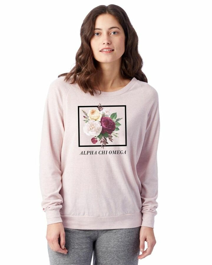 Sorority Bouquet Slouchy Eco-Jersey™ Pullover