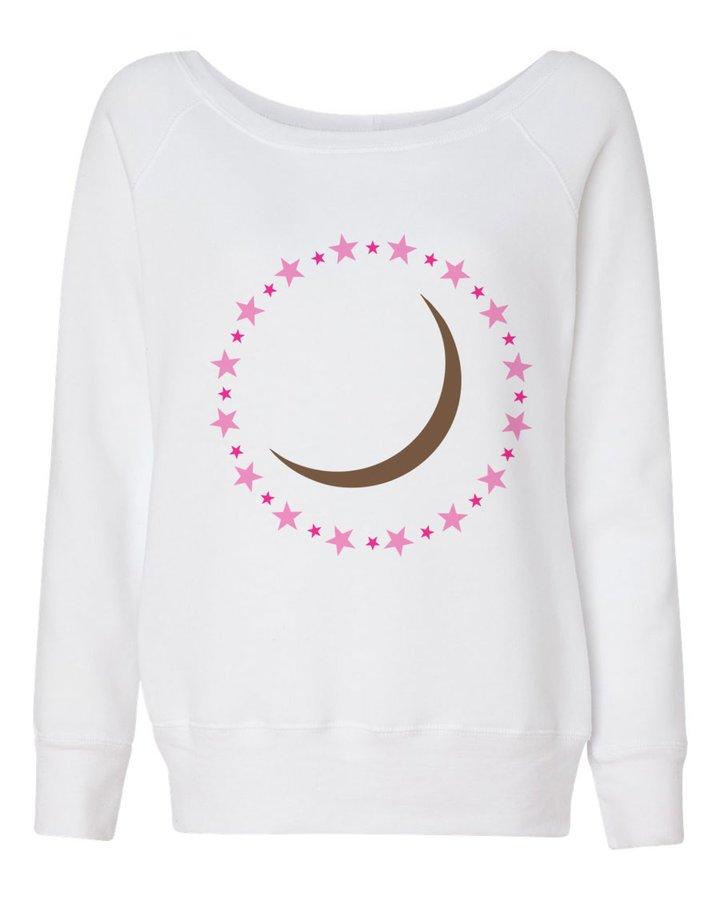 Sorority Mascot Fleece Wide Neck Sweatshirt
