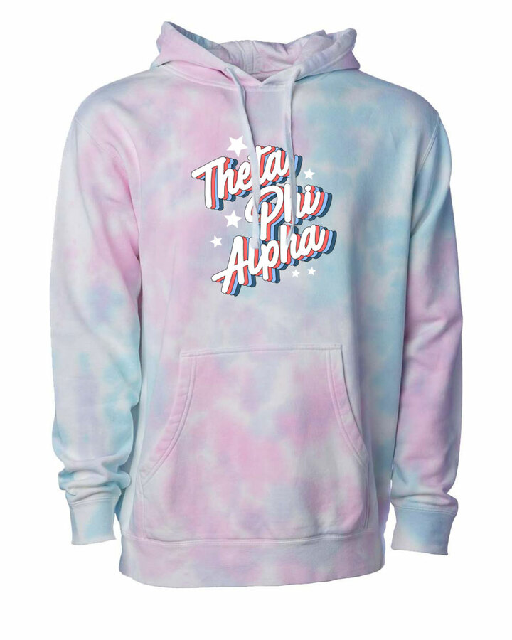 Theta Phi Alpha Cotton Candy Tie-Dyed Hoodie