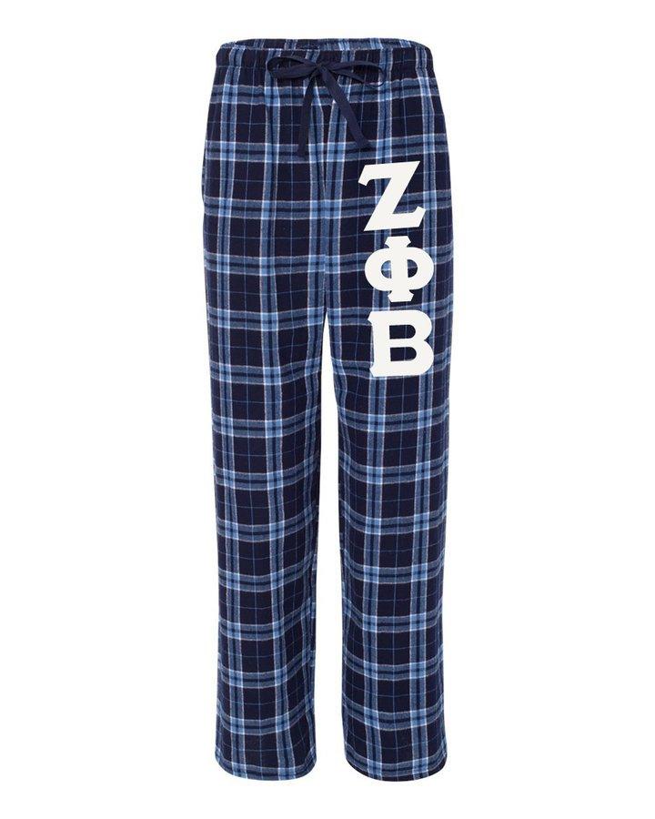 Zeta Phi Beta Pajamas -  Flannel Plaid Pant