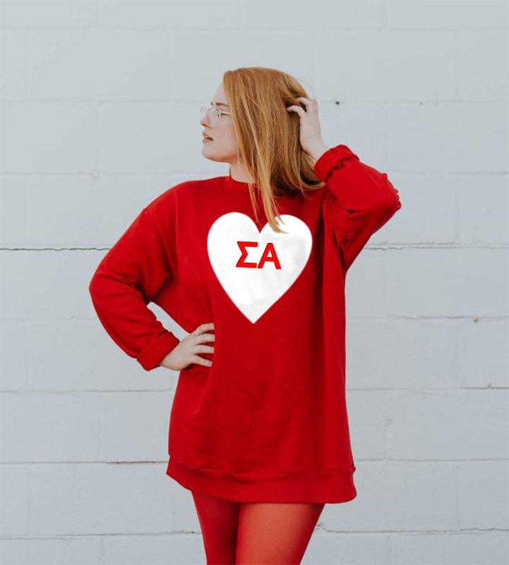 Sigma Alpha Big Heart Sweatshirt